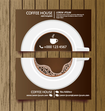Coffee Shop Business Card Free Vector Download (27,612 Free Regarding Coffee Business Card Template Free