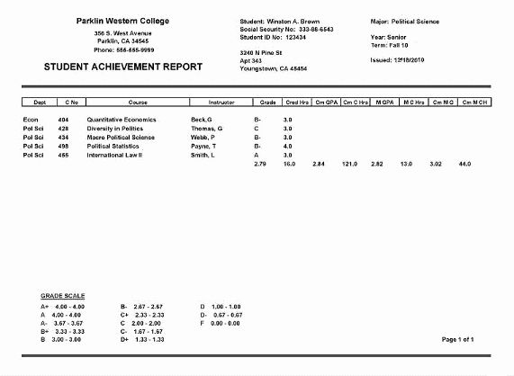 College Report Card Template Beautiful Report Card Maker In With Regard To Best Fake Report Card Template