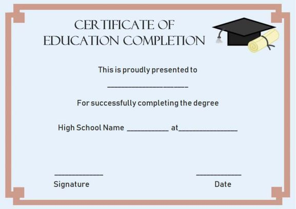 Continuing Education Certificate Of Completion Template For Continuing Education Certificate Template