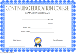 Continuing Education Certificate Template (2) Templates In Quality Continuing Education Certificate Template
