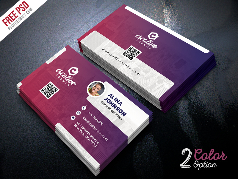 Creative Business Card Template Psd Set | Psdfreebies With Creative Business Card Templates Psd
