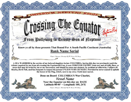 Crossing The Line Certificate Template (8) Templates Throughout Crossing The Line Certificate Template