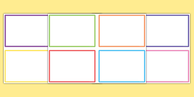 Cue Card Templates | Editable Cards | Primary Resource Pertaining To Cue Card Template