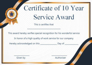 Customer Service Award Certificate: 10 Templates That Give With Free Recognition Of Service Certificate Template