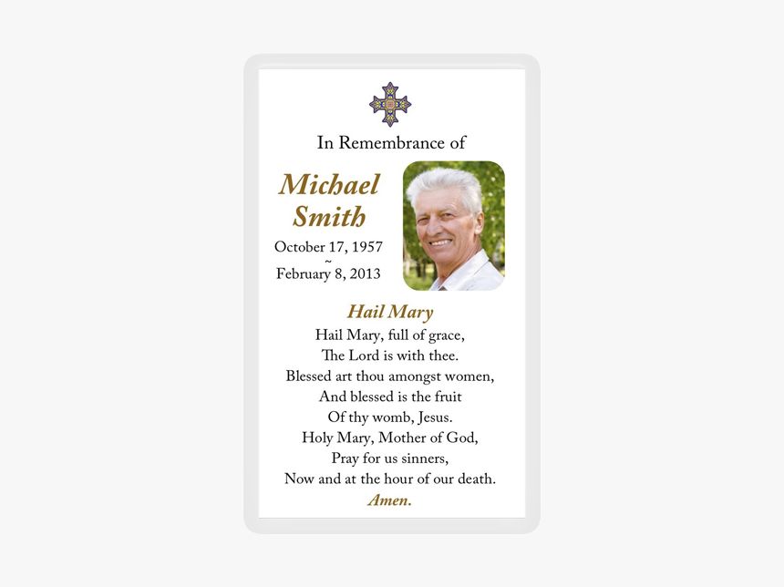 Death Anniversary Remembrance Card Hd, Hd Png Download Throughout Printable Death Anniversary Cards Templates