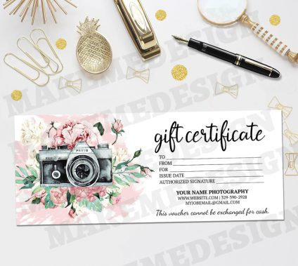 Diy Gift Card Archives Makemedesign With Free Photography Gift Certificate Template