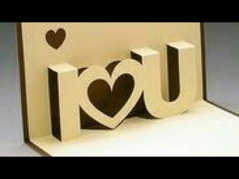 Diy I Love You Pop Up Card 3D Card For Anniversary |Valentine |Handmade Craft Paper Craft (2018) Pertaining To I Love You Pop Up Card Template