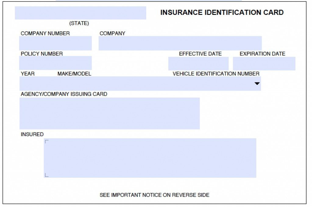Download Auto Insurance Card Template In 2020 | Insurance Regarding Proof Of Insurance Card Template