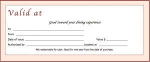 Download Restaurant Gift Certificate Templates With Restaurant Gift Certificate Template