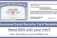 Download Social Security Card Psd Template In 2020 | Social Pertaining To Social Security Card Template Download