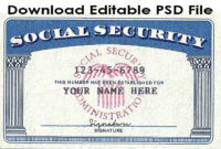 Download Social Security Card Template Psd File. Link: Https With Social Security Card Template Download