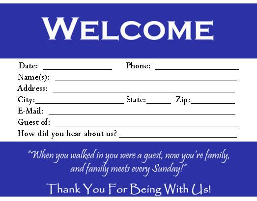 Download This Visitor Card (Click The Link Below) Church For Printable Church Visitor Card Template Word