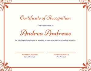 ❤️Free Certificate Of Recognition Template Sample❤️ Inside Recognition Of Service Certificate Template