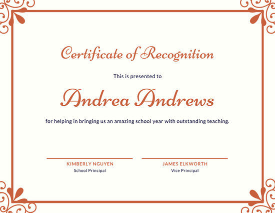 ❤️Free Certificate Of Recognition Template Sample❤️ With Template For Certificate Of Award