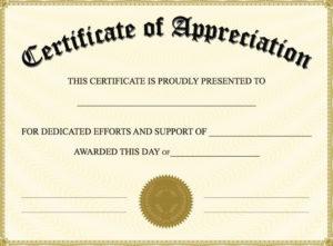 Editable Certificate Of Appreciation Template | Editable With Free Certificate Of Appreciation Template Free Printable