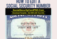 Editable Social Security Card Template Software In 2020 With Regard To 11+ Social Security Card Template Download