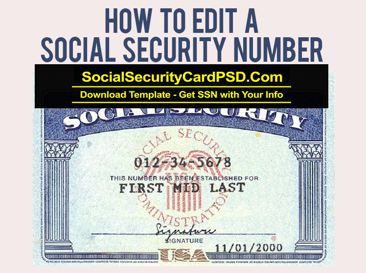 Editable Social Security Card Template Software Intended For Blank Social Security Card Template Download