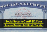 Editable Social Security Card Template Software Pertaining To 11+ Fake Social Security Card Template Download