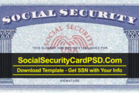 Editable Social Security Card Template Software With Regard To Social Security Card Template Download
