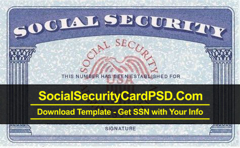 Editable Social Security Card Template Software Within Free Blank Social Security Card Template Download