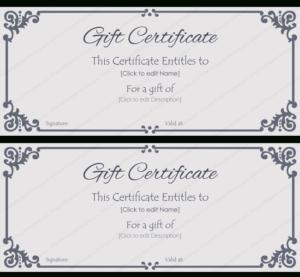 Elegant Gift Certificate Template #Gift #Certificate Regarding Elegant Gift Certificate Template