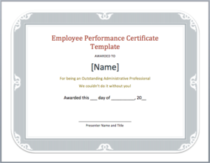 Employee Performance Certificate Template Word Templates Pertaining To Best Performance Certificate Template