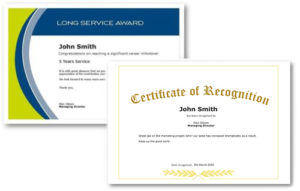 Employee Recognition Certificate Templates Free Online Tool Within Free Recognition Of Service Certificate Template