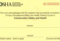 Equipment Operator Certification Card Template Inspirational In Osha 10 Card Template