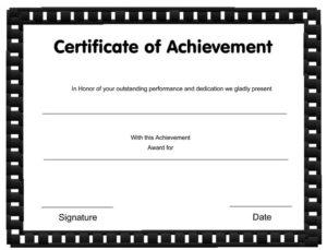 Excellent Sales Achievement Certificate Template Inside Within Sales Certificate Template
