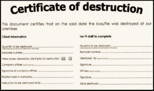 🥰5+ Free Certificate Of Destruction Sample Templates🥰 Regarding Certificate Of Destruction Template
