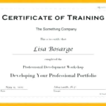 Fall Protection Certification Template (6) | Professional Within Best Fall Protection Certification Template