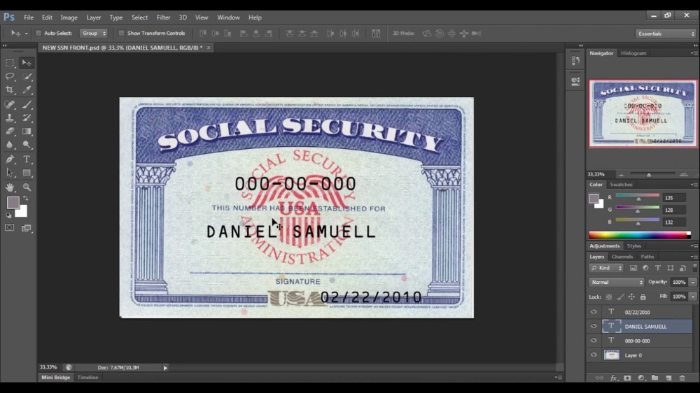 Fillable Social Security Card Template Blank Social – Nurul With 11+ Fake Social Security Card Template Download