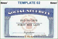 Fine Novelty Social Security Card Template Download With Intended For 11+ Social Security Card Template Download