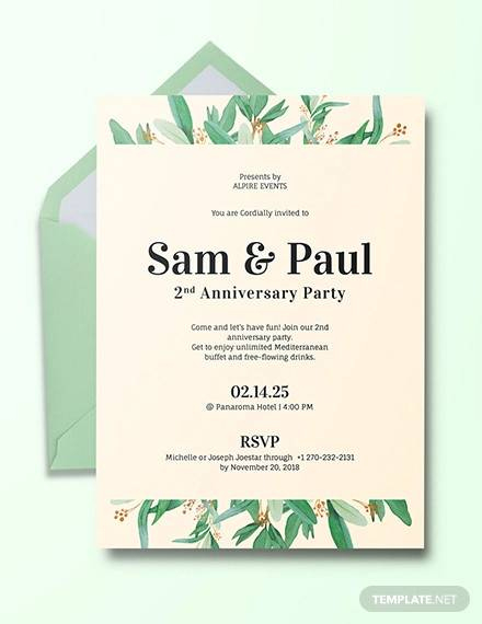 Free 13+ Sample Amazing Anniversary Invitation Templates In With Regard To Death Anniversary Cards Templates