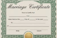 Free 16+ Marriage Certificate Templates In Word   Psd Intended For Printable Certificate Of Marriage Template