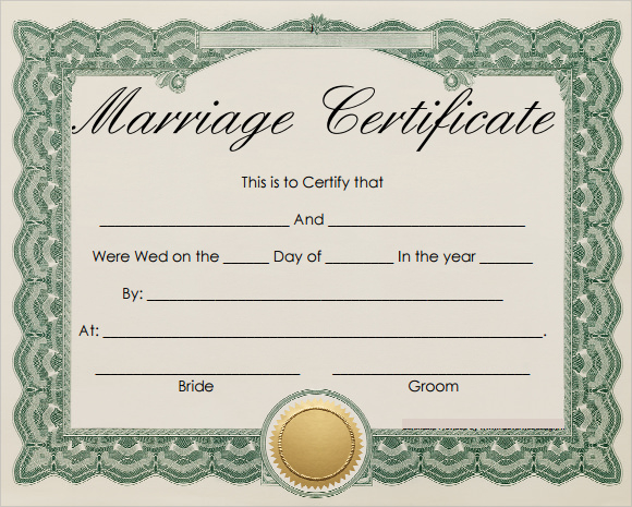 Free 16+ Marriage Certificate Templates In Word | Psd Intended For Printable Certificate Of Marriage Template