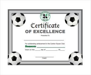 Free 17+ Soccer Certificate Templates In Psd | Ai | Indesign Inside Best Soccer Certificate Template