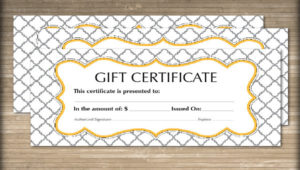 Free 60+ Sample Gift Certificate Templates In Pdf | Psd | Ms With Free Graduation Gift Certificate Template Free