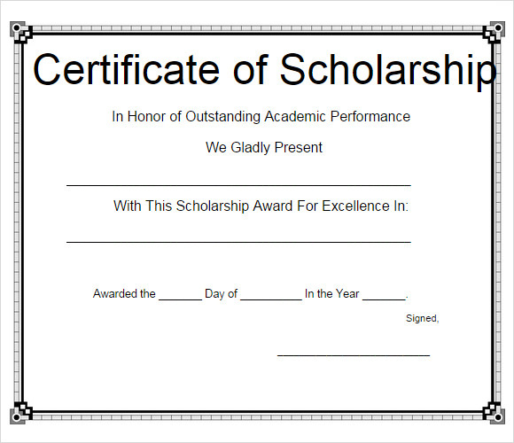 Free 7+ Scholarship Certificate Templates In Eps | Ai Within Scholarship Certificate Template Word