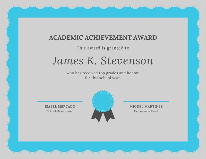 Free Academic Certificates Templates To Customize | Canva Inside Academic Award Certificate Template