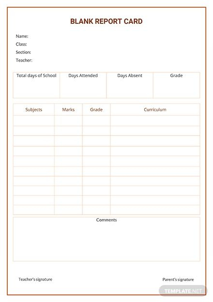 Free Blank Report Card Template: Download 281+ Reports In Pertaining To Free Blank Report Card Template