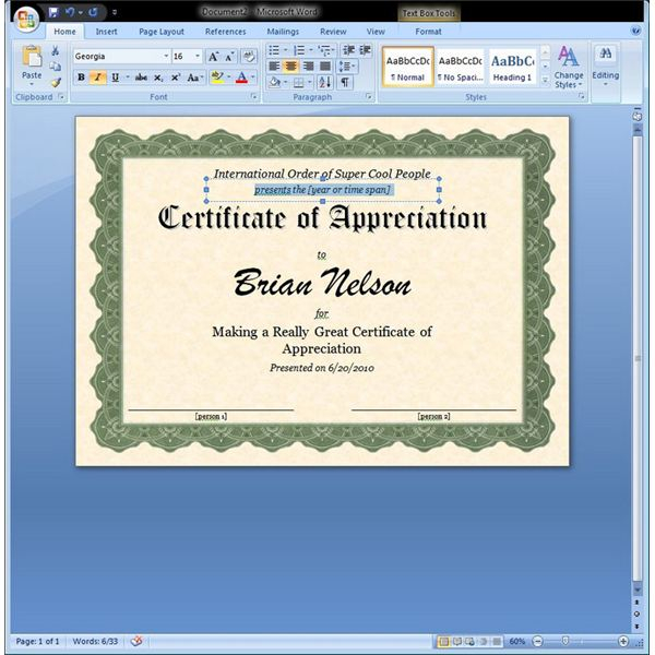 Free Certificate Templates For Word 2007 (4) Templates Pertaining To Free Award Certificate Templates Word 2007