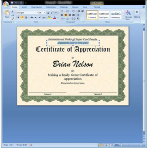 Free Certificate Templates For Word 2007 (4) Templates Regarding Free Certificate Templates For Word 2007