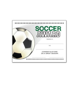 Free Certificate Templates For Youth Athletic Awards In Best Soccer Certificate Template
