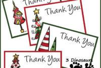 Free Christmas Thank You Notes   Christmas Thank You With Regard To Christmas Thank You Card Templates Free