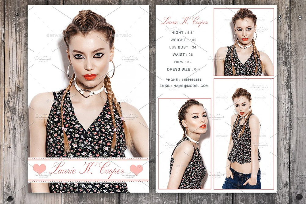 Free Comp Card Template Brochure Templates For Mac Microsoft With Best Model Comp Card Template Free