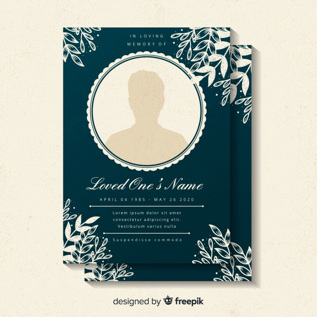 Free Death Card Vectors, 1,000+ Images In Ai, Eps Format Inside Printable Death Anniversary Cards Templates
