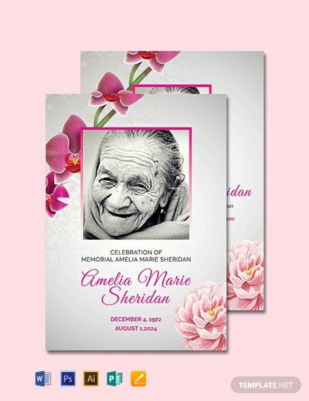 Free Funeral Memorial Card Template Word (Doc) | Psd Throughout Memorial Card Template Word
