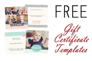 Free Gift Certificate Photoshop Templates From Birdesign Intended For 11+ Free Photography Gift Certificate Template
