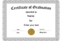 Free Graduation Certificate Templates | Customize Online Intended For 5Th Grade Graduation Certificate Template